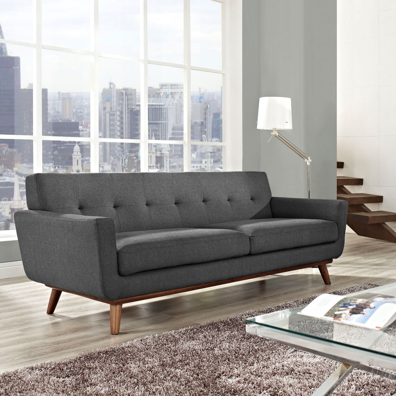 Modway Engage Upholstered Tufted Sofa, Multiple Colors   Walmart.com