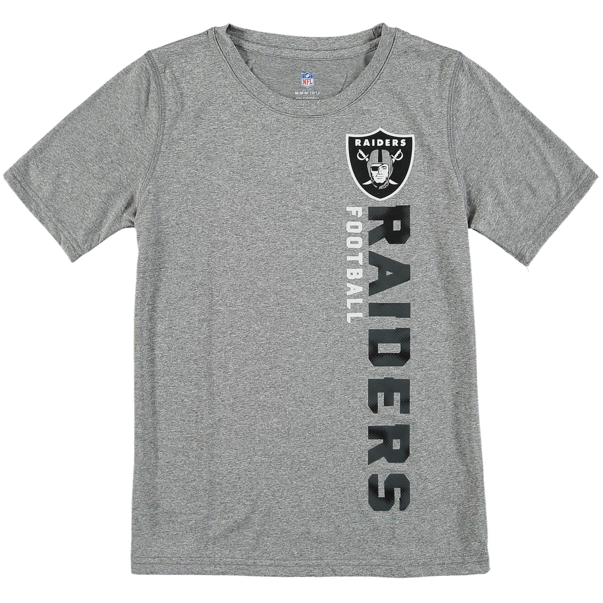 Oakland Raiders Youth Magna Gravity Field Dri-Tek T-Shirt - Silver