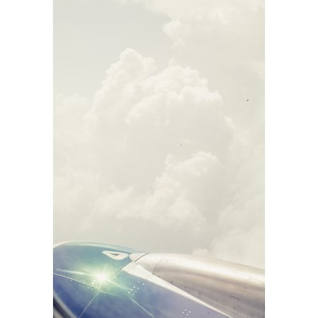 Canvas Print Clouds Jet Aircraft Fuselage Aircraft Wing Flyer Stretched Canvas 10 x 14
