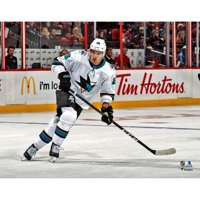 Timo Meier San Jose Sharks Unsigned White Jersey Skating Photograph