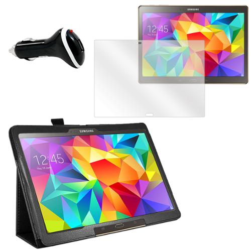 Galaxy Tab S 10.5 (T800) Screen Protector, Folio & Charger