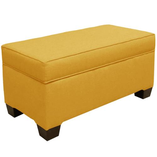 Nice Skyline Furniture Linen French Yellow Storage Bench