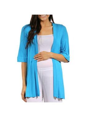 Women's Maternity 3/4 Sleeve Open Shrug