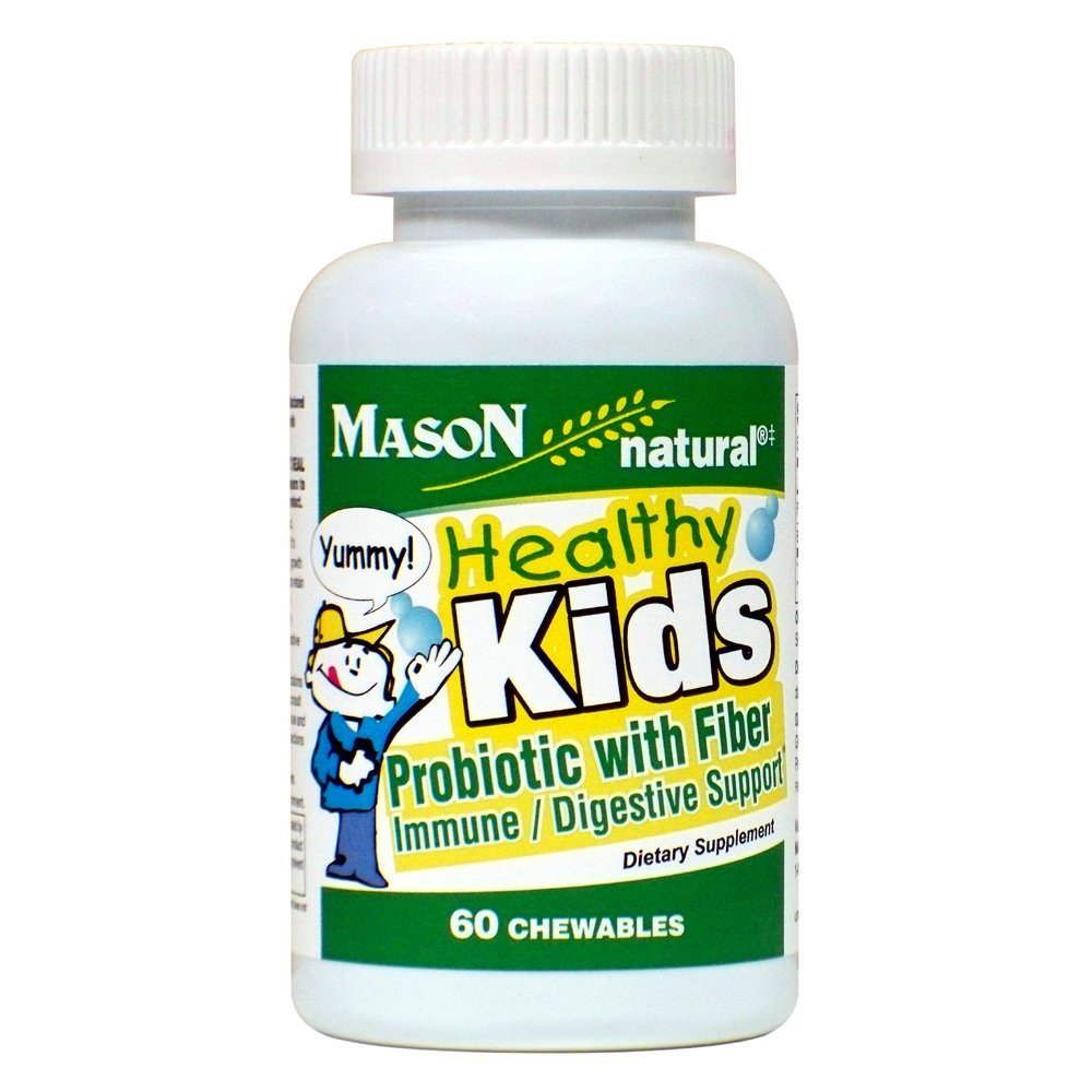 Mason natural Healthy Kids Probiotic with Fiber Dietary Supplement, 60 count