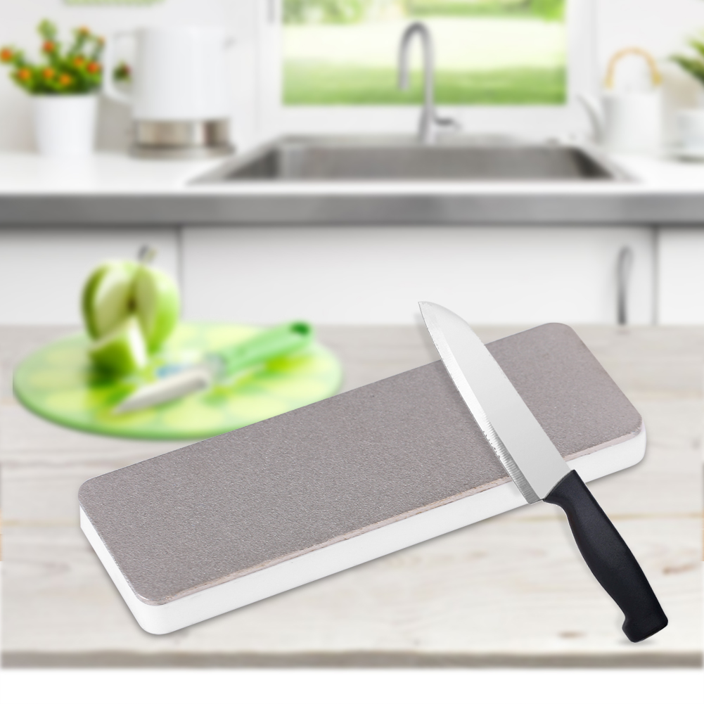 Mini Double Sided Ceramic Whetstone Kitchen Knife Sharpener Tool Sharpening Stone