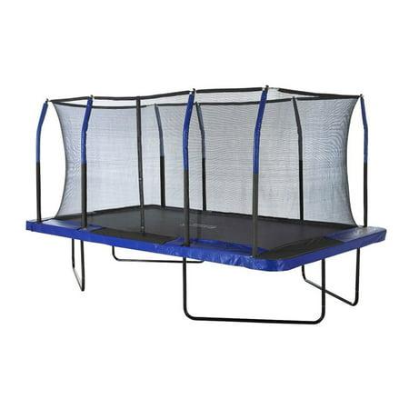 Upper Bounce Easy Assemble Rectangular Trampoline w/ Fiber Flex Enclosure