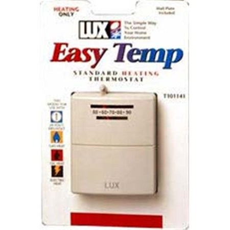 Lux T101141SA Mechanical Heat Thermostat with Mercury Free, Sterling