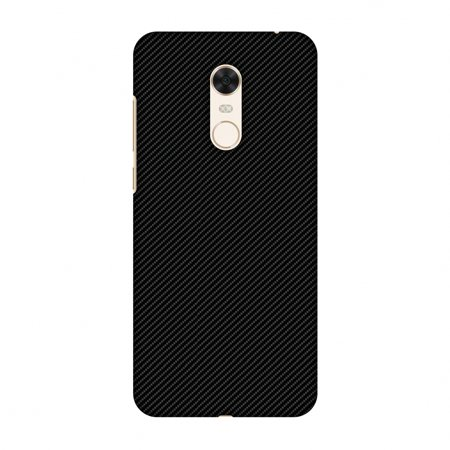 Carbon Star Snap - Xiaomi Redmi Note 5 Case, Premium Handcrafted Printed Designer Hard Snap On Case Back Cover with Screen Cleaning Kit for Xiaomi Redmi Note 5 - Carbon Black With Texture