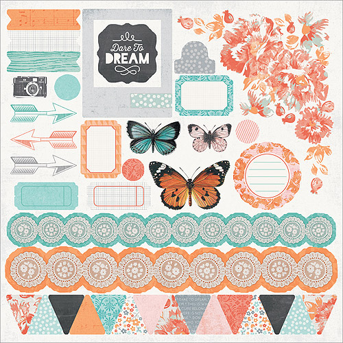"Dream Big Cardstock Stickers, 12"" x 12"""
