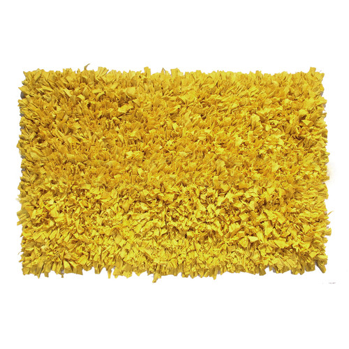 Ess Ess Exports Jersey Hand-Knotted Yellow Area Rug