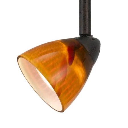 Cal Lighting HT-954-AMS  1 Light Adjustable HT System Track Head with Amber
