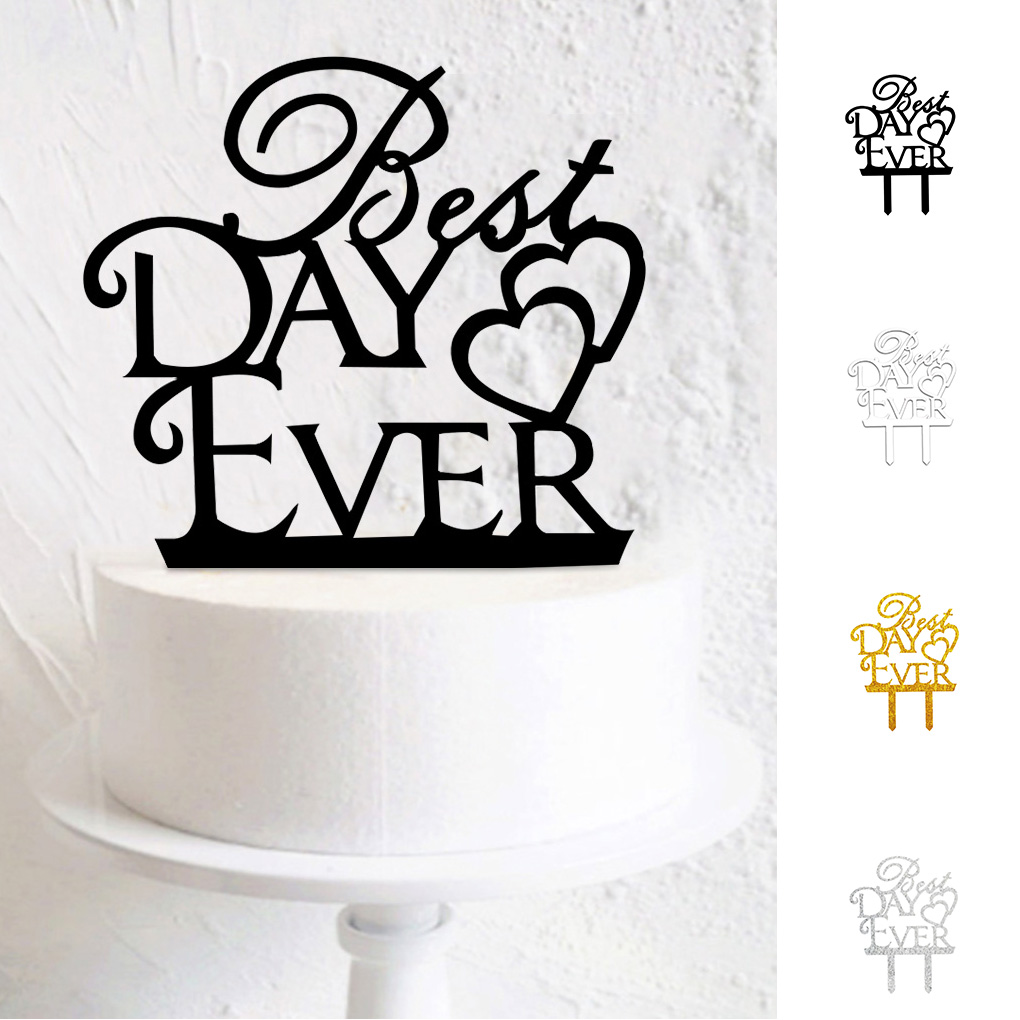 1st Wedding Anniversary Party Decorations 1st Anniversary Cake Topper Rose Gold /& Silver Aonbon Glitter One Year Married Cake Topper