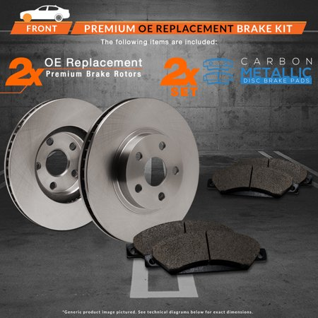 Max Brakes Front Premium Brake Kit [ OE Series Rotors + Metallic Pads ] TA049441 | Fits: 2011 11 Audi A3/A3 Quattro w/ 312mm Front Rotor Dia and 1LJ/1ZD Located On The Vehicle Build Sticker - image 4 de 8