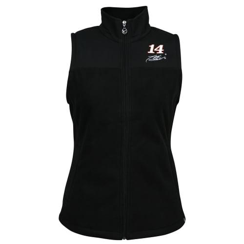 Tony Stewart Chase Authentics Women's Color Block Fleece Vest Black by Motorsports Authentics/Action Sports