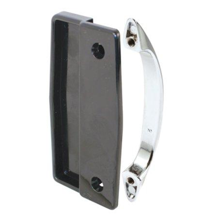 CRL Black Sliding Screen Door Plastic Inside and Chrome Outside Pull Set with 3