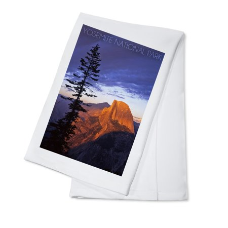 Yosemite National Park, California - Half Dome & Pine Tree - Lantern Press Photography (100% Cotton Kitchen