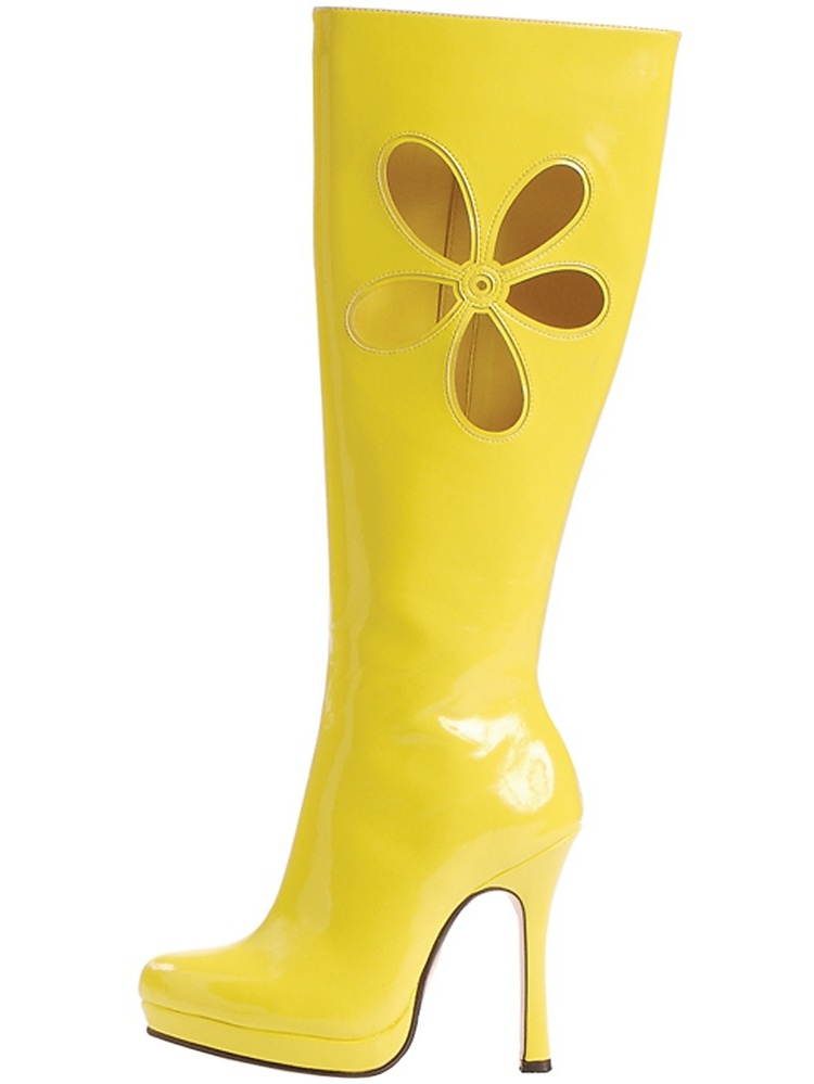 Lovechild Go Go Boots Adult Costume Shoes Yellow - Size 7