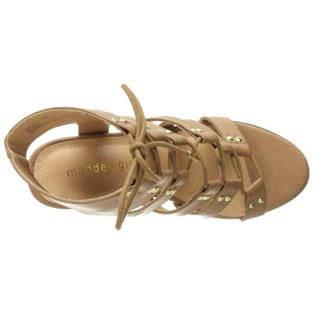 a9ab66775d83 Madden Girl Womens Nyles Open Toe Casual Strappy Sandals