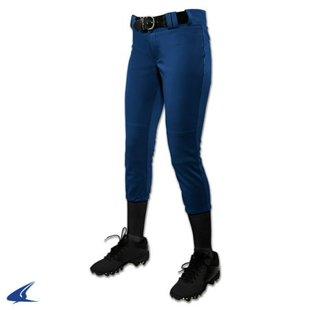 Champro Women's Low Rise Tournament Fastpitch Pants - Navy - Small Womens Low Rise Sport Pant