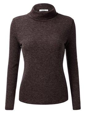 82440385781 Product Image NINEXIS Women s Basic Long Sleeve Pullover Turtleneck Sweater