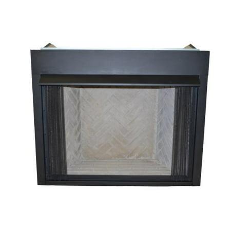 Firebox Screen (Sure Heat VFLB36B Surefire Vent-Free Low Profile Firebox with Screen, 36