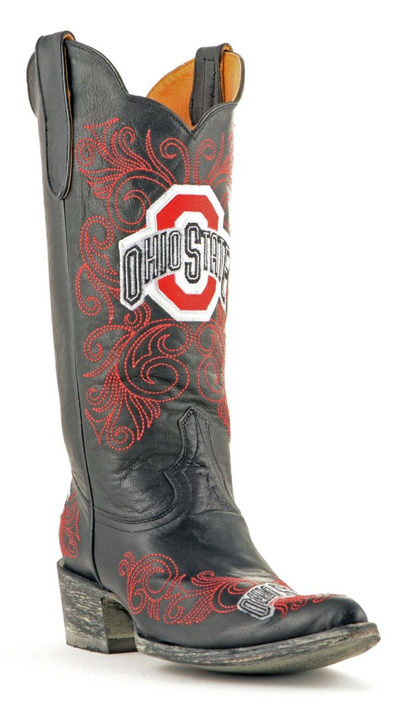 "Gameday Boots Womens 13"" Tall Leather Ohio State Cowboy Boots by Gameday Boots"