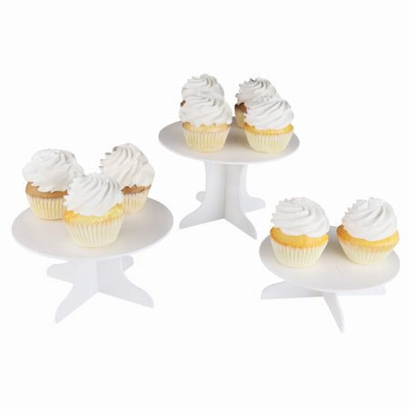 Three Piece Dessert Stand Set - DIY Round Display Stand - Diy Dessert Table