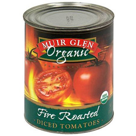 Organic Diced Tomatoes - Muir Glen Fire-Roasted Diced Tomatoes, 28 oz (Pack of 12)