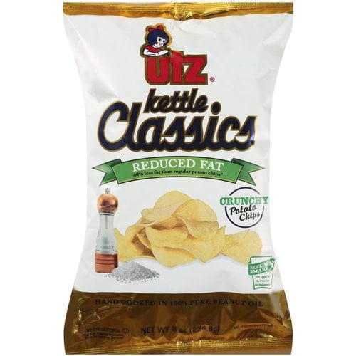 UTZ Kettle Classics Reduced Fat Potato Chips, 8 oz