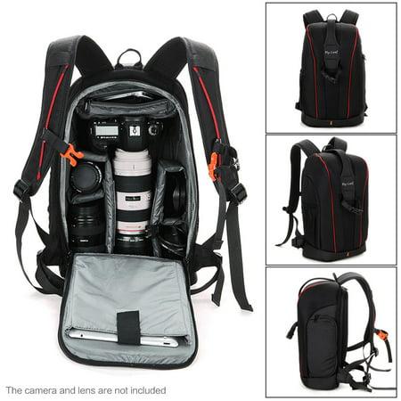 Camera Lens Black Photography Padded Shockproof Water-resistant Backpack Bag Case for Nikon Canon Sony DSLR Camera