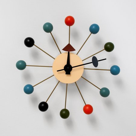 Bubble Multi-Color Mid Century Modern Wall Clock Bicycle Double Bubble Clock