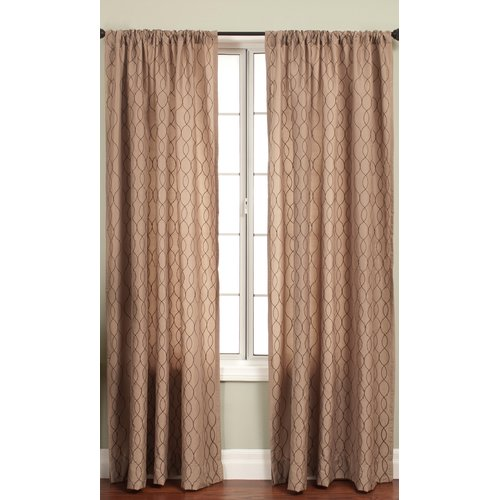 Softline Home Fashions Abbey Curtain Panel in Latte