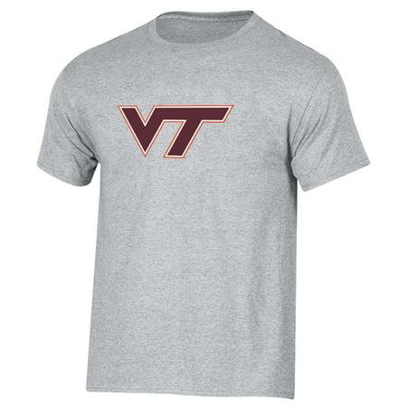 Men's Russell Heathered Gray Virginia Tech Hokies Crew Primary Logo T-Shirt - Virginia Tech Halloween