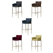 A Line Furniture Mcguire Upholstered Bar Stools With Chrome Legs (Set of 2)