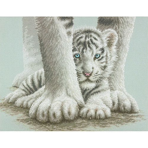Dimensions Mother Wolf and Cubs Stamped Cross Stitch Kit 12 x 16