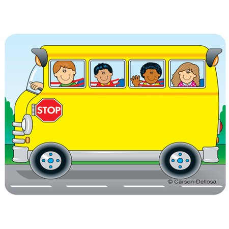 School Bus Name Tags hese convenient, self-adhesive School Bus name tags are ideal for labels, reminders, calendar and homework notes, and more! Each pack features 40 name tags, measuring 3  x 2.5?. Available in a variety of prints, name tags are fun addition to any classroom!