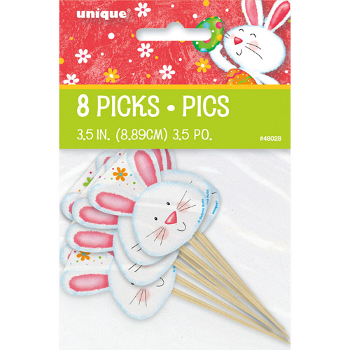 Happy Easter Bunny Toothpicks, 8-Count