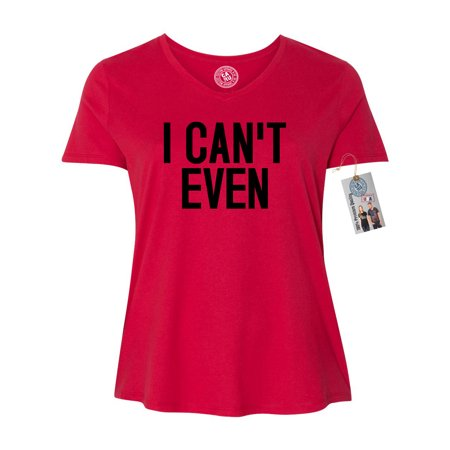 I Can't Even Funny Saying Plus Size Womens V Neck T-Shirt Top - Scary Halloween Tombstones Sayings