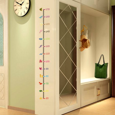 Lovely Cartoon Pattern Baby Child Growth Height Measurement Chart ...