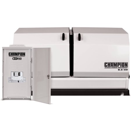 Champion 100177 8.5kW Home Standby Generator with ATS50 Outdoor Rated Automatic Transfer Switch, 50 Amp, NEMA 3R