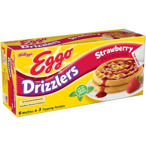 Kellogg's Eggo Strawberry Drizzlers Waffles, 10.7 oz