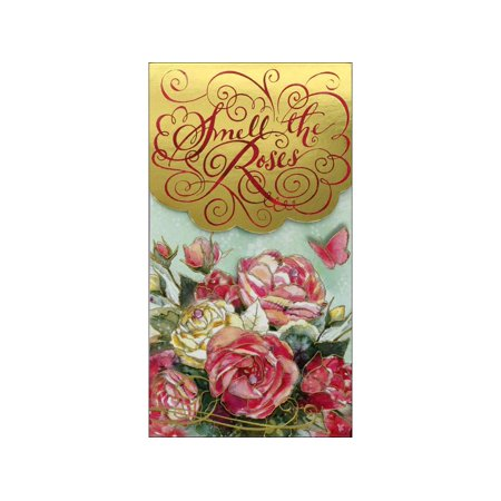 Punch Studio Note Pad Pocket Lg Smell The Roses