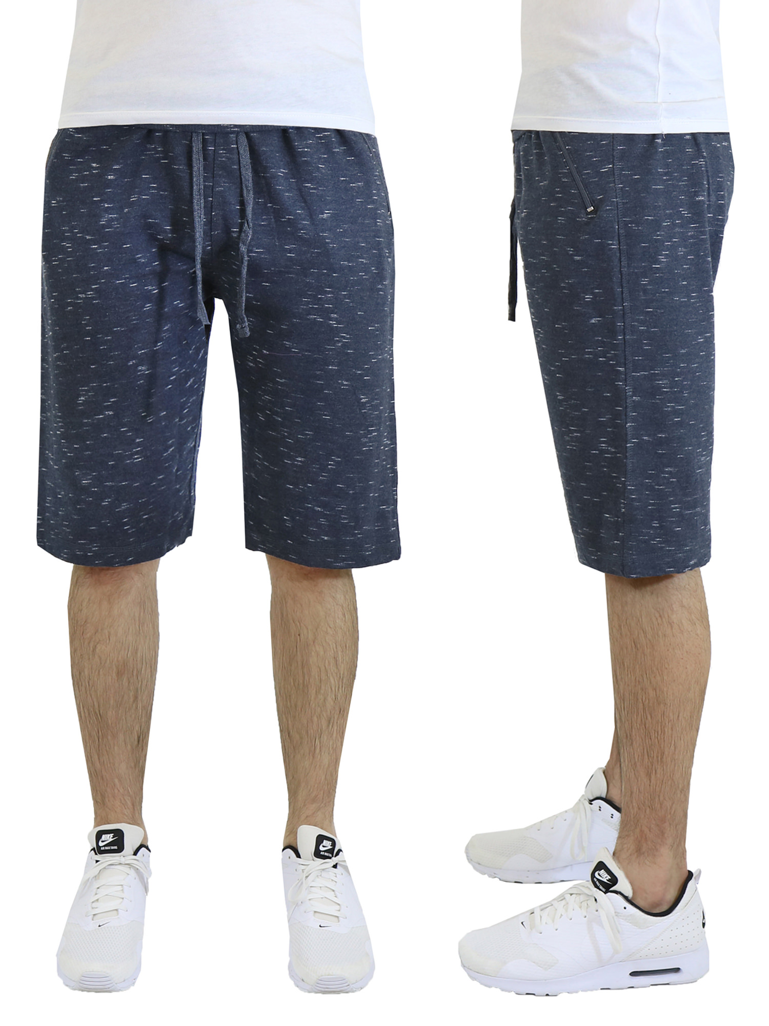Men's French Terry Jogger Shorts With Zipper Pockets