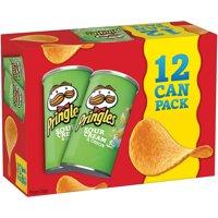 Pringles Sour Cream & Onion Potato Crisps Chips 2.5 oz 12 ct