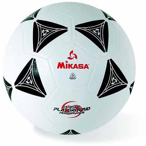 Mikasa Rubber Soccer Ball, Size 5, Black and White