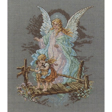 Janlynn Guardian Angel Counted Cross Stitch Kit, 7-1/2