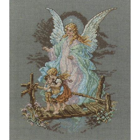 Janlynn Guardian Angel Counted Cross Stitch Kit, 7-1/2