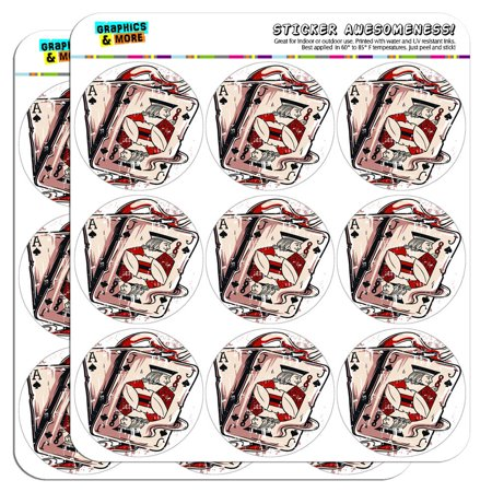 """Ace Jack of Spades Deck Cards Poker Gambling 2"""" Scrapbooking Crafting Stickers"""