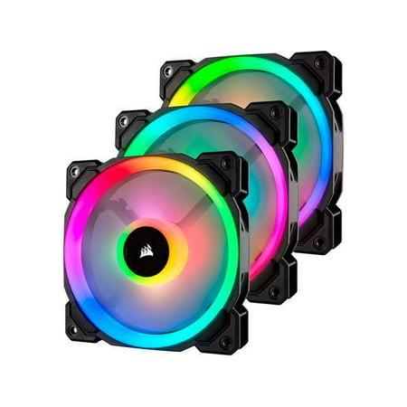 Corsair LL Series CO-9050072-WW LL120 RGB, 120mm Dual Light Loop RGB LED PWM (Rgb Monitor Loop)