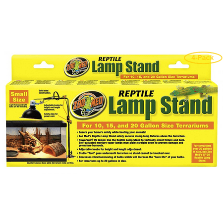 Zoo Med Economy Reptile Lamp Stand Fits 10-20 Gallon Sized Terrariums - Pack of 4